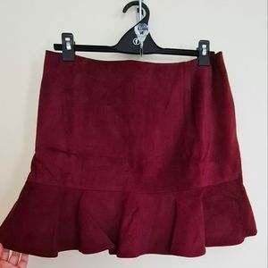 Forever new fit and flare suede mini skirt